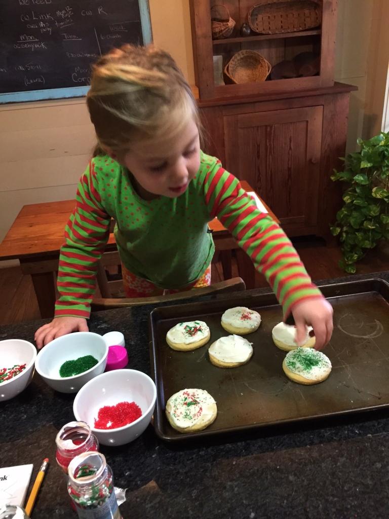 baking sugar cookies, holiday traditions
