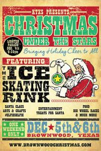 Christmas festival, ice skating